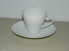 Rosenthal ROMANCE Flat Teacup Tea Cup w/ Saucer Set All White 15110 - $14.90