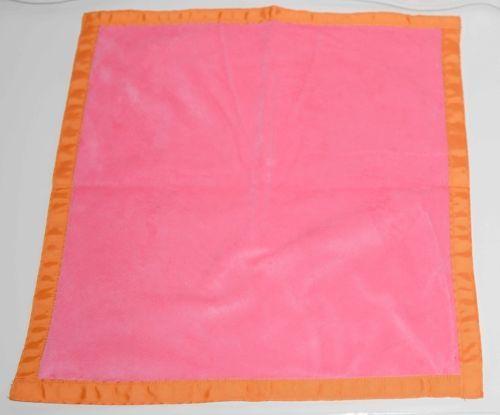Oh Mint 325S1414STRIPE Seersucker Minky Mini Blankie Colors Orange and Pink