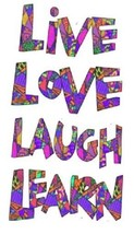 Live Love Laugh Learn Magnet #1 - $7.99