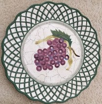 3 Raymond Waites Cornucopia Certified Intl Green Rim Fruit Dinner Dish Plates image 2