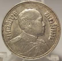 Y #44 1915 Thailand EF/AU Silver 2 Salung (1/2 THB) Rama VI #0143 - $34.99