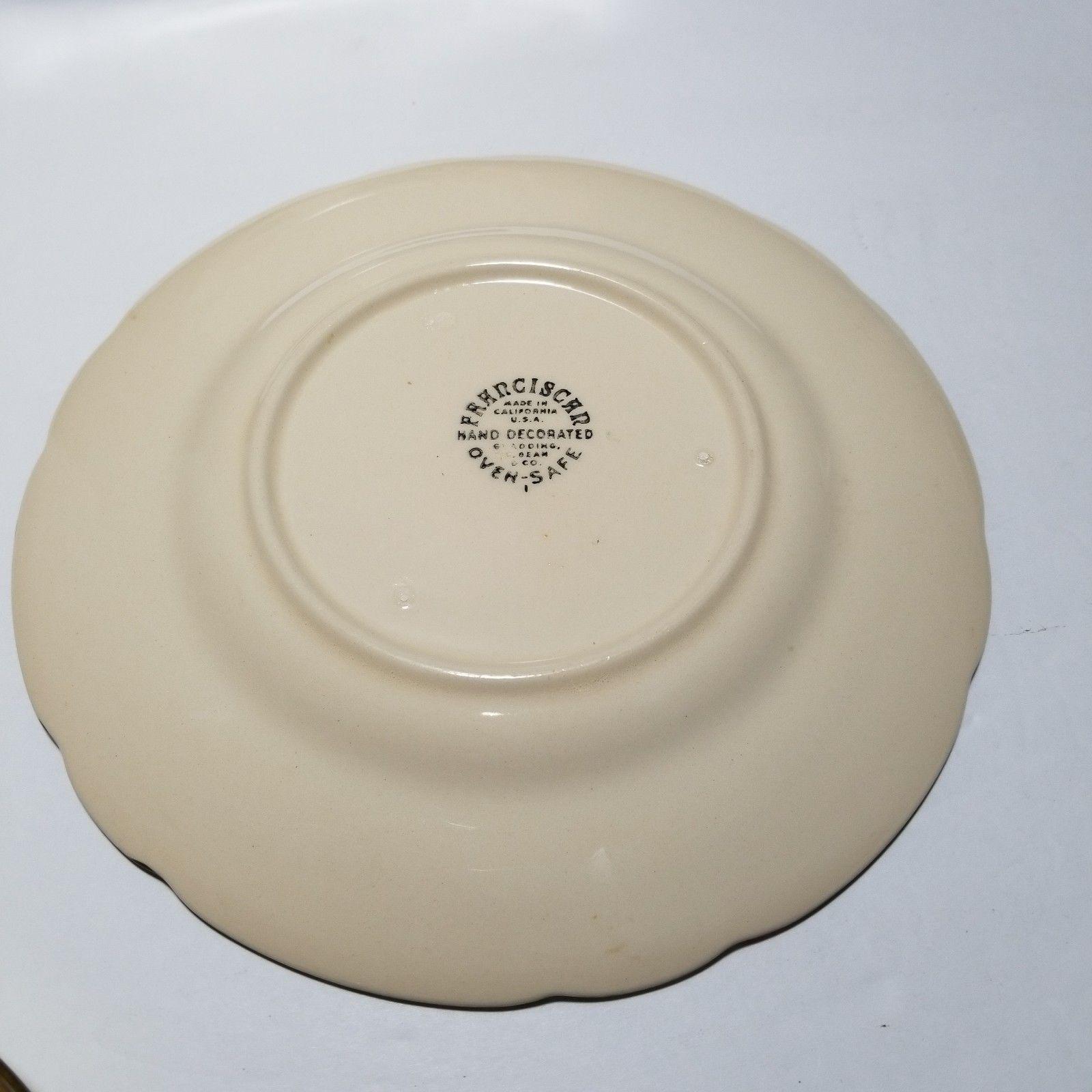 """Franciscan Desert Rose Salad Plates 8"""" Set of 3  USA 1953-58 Backstamp"""