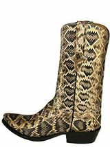 Handmade Men's Snake Printed Leather Cowboy Mexican Western Hunter Jumper Boots - $459.99