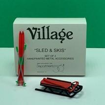 Department 56 Snow village Christmas figurine box 5233-7 sled skis set 2... - $13.50
