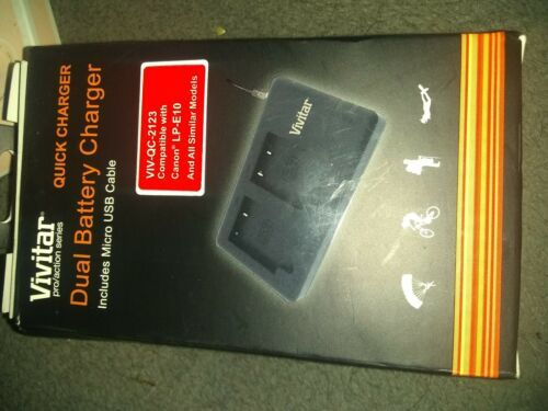 Primary image for Vivitar Quick Dual Charger for VIV-QC-2123 Compatible w LP-E10 & All Similar New