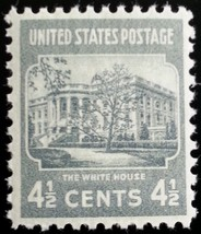 1938 4 1/2c White House Scott 809 Mint F/VF NH - $0.99