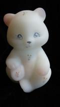 Vintage Fenton Art Glass Handpainted Berries and Blossom Bear Figurine - $99.00