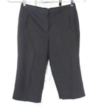 Larry Levine Capri Pants Women Size 8 Black Career Work Wear Casual Stre... - $12.86