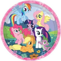 "My Little Pony Birthday Friendship Party 8 Ct  9"" Dinner Lunch Plates - $4.19"