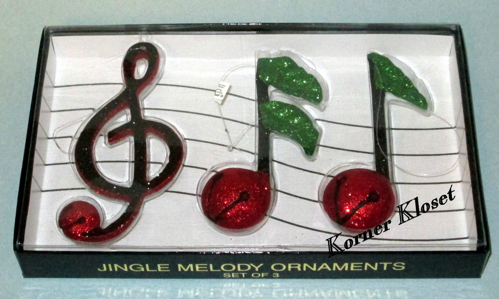 Primary image for Department 56 Jingle Melody Ornaments - Set of 3 - Dept 56 - NIB