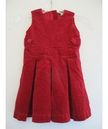 Baby Gap Girl's Size 12-18 Months Cotton Solid Red Sleeveless Dress - $20.00