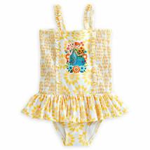 "Disney Store Girls Anna & Elsa - Frozen - ""Ice flow"" Swimsuit, Yellow - $22.50"