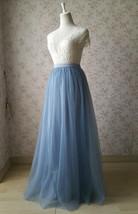 Full Tulle Maxi Skirt Plus Size Floor Long Tulle Skirt Wedding Guest Maxi Skirts image 14