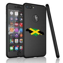 For iPhone 360° Thin Slim Hard Case Cover + Screen Protector Jamaica Jam... - $14.99