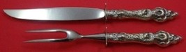 Les Six Fleurs By Reed and Barton Sterling Silver Steak Carving Set 2pc - $179.55