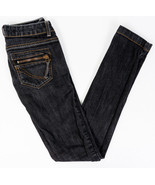 ONLY Jolina Jeans Womens Dark Wash Zipper Pocket Low Rise Skinny Stretch... - $33.56