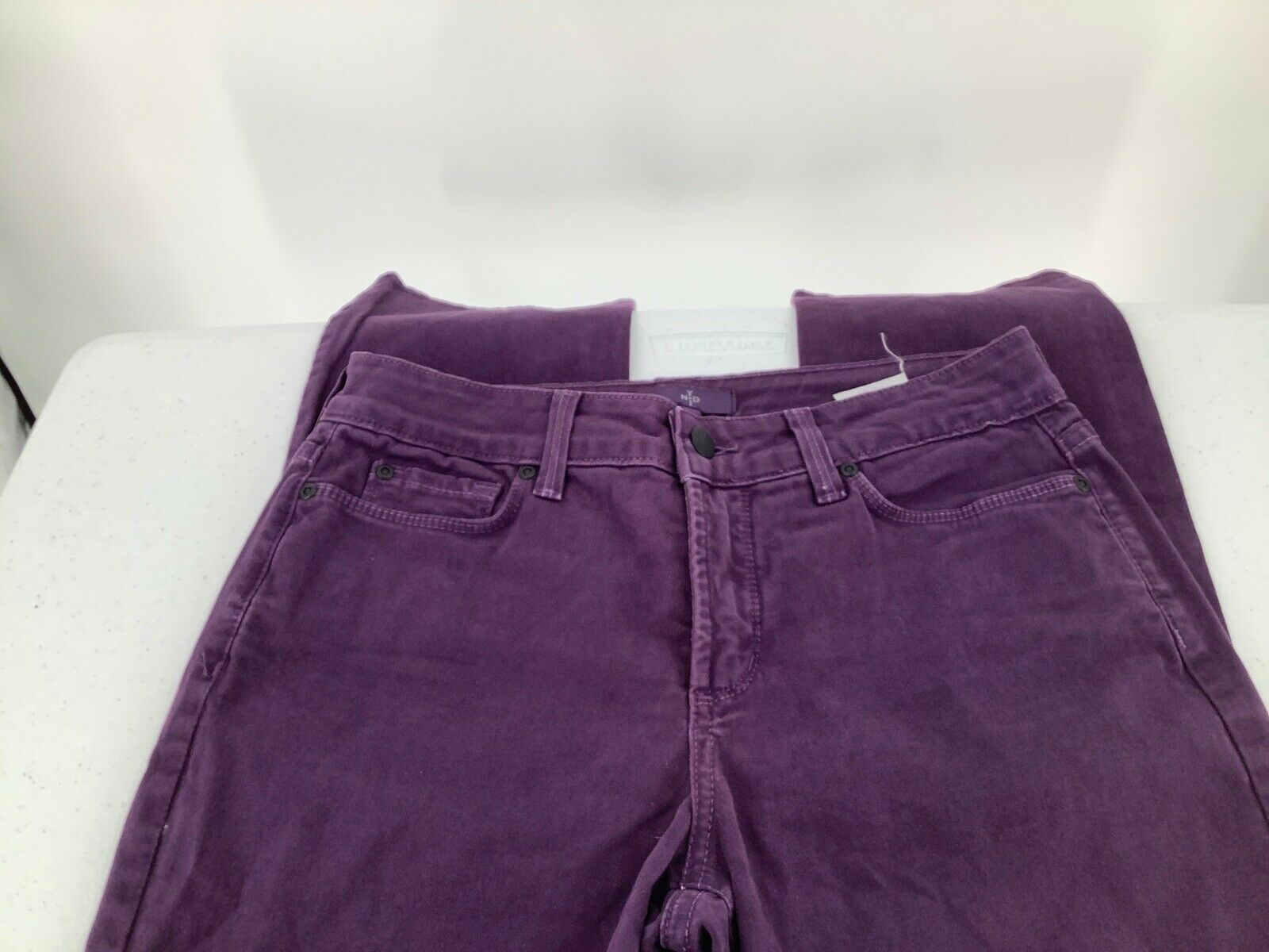 Primary image for Not Your Daughter's Jeans Women 4  Purple Straight Mom's Jeans Pockets Zipper