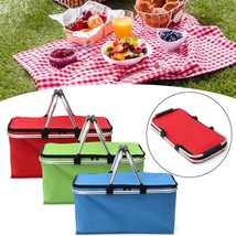 Picnic Basket Folding Outdoor Camping Cooler Insulated  Oxford Aluminum ... - €28,48 EUR