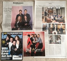 Lot 3 Will and Grace 2017: Entertainment Weekly, Parade Magazine, New Yo... - $6.59