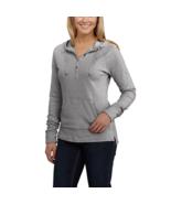 Carhartt Pondera Long Sleeve Hooded Henley Women's S 4/6 Cotton Hoodie 1... - $30.15