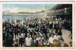 New Jersey Postcard Atlantic City Crowd of Bathers National Postcard 1920s - $4.74