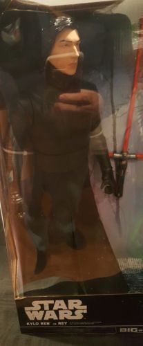 "Star wars Kylo Ren Vs Rey 18"" Big Figs Brand New In Box Starkiller base Showdown"