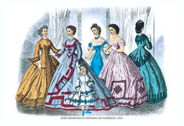 Mme. Demorest's Mirror of Fashions, 1840 #7 - Art Print - $19.99+