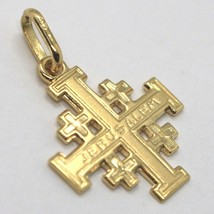 Pendant Jerusalem Cross, 750 18k Yellow Gold, finely worked image 1
