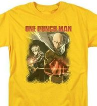 One Punch Man Japanese Anime TV series gold graphic t-shirt OPM106 image 3