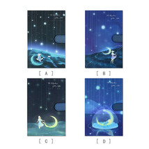 A5 Cardboard Starry Journals Illustration Notebook Records Diaries Girl ... - $27.29