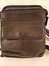 Fossil Black Leather Mini Cross Body Card Case Bag - $18.66
