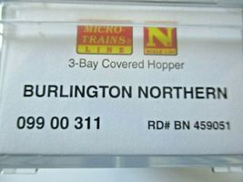 Micro-Trains # 09900311 Burlington Northern 3-Bay Covered Hopper N-Scale image 5