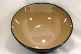 "Fine China Of China Black & Tan  Soup Bowl 7 1/4"" #42104 - $4.40"
