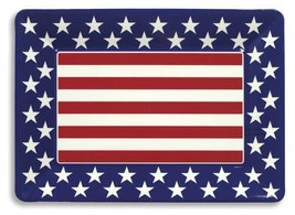 Large Plastic Serving Tray- Red, White and Blue Patriotic - $10.44