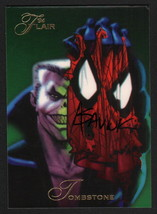Alex Saviuk Art SIGNED 1994 Fleer Flair Spiderman vs Tombstone Trading Card - $12.86