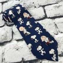 Peanuts Snoopy Mans Best Friend Necktie 100% Silk by Manhattan Menswear  - $19.79