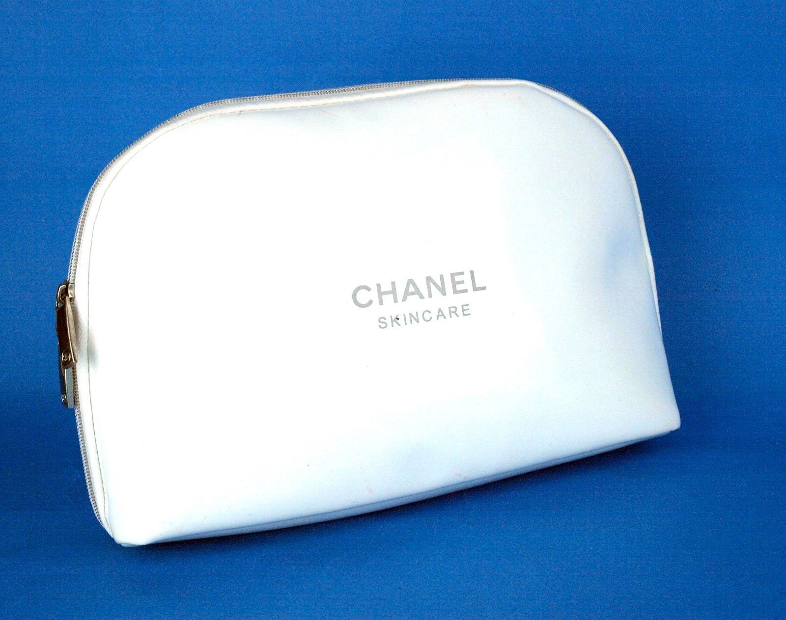 CHANEL Skincare White PVC Cosmetics Pouch Accessories Bag Purse Novalty Item