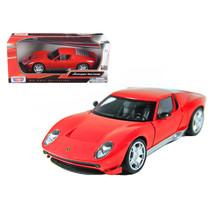 Lamborghini Miura Concept Red 1/24 Diecast Car Model by Motormax 73367r - $29.91