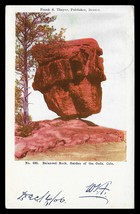 Balanced Rock Postcard Colorado 1906 Garden of the Gods RPO Cancel CO PC - $12.50
