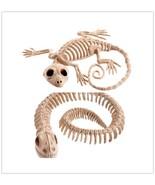 Snake Gecko Skeleton Halloween Party House Decoration Horror Animal Bone... - $8.99