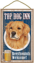 """Top Dog Inn Beerhounds Golden Retriever Bar Sign Plaque dog pet 10"""" x 16... - $21.95"""