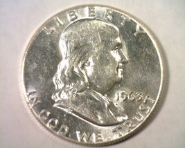 1963 FRANKLIN HALF DOLLAR CHOICE ABOUT UNCIRCULATED++ CH. AU++ NICE ORIG... - $14.00