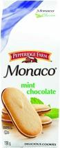 6 Boxes Pepperidge Farm Monaco Mint  Chocolate Cookies 198g Each- Canada FRESH - $24.50