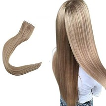 Easyouth Tape in Remy Hair 14inch Real Human Hair Extensions Invisible Color #14