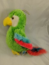 "Dakin Parrot Bird Watchers Plush 12"" Makes Sound 1981 Stuffed Animal toy - $7.95"