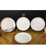 """Vintage CENTURA By Corning 10"""" Dinner Plates White Coupe Heavy Weight Se... - $18.69"""