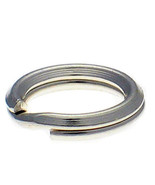 10 Sterling 925 British Silver 7mm Heavy Weight Split Link Charm Rings - $10.29