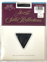Hanes Silk Reflections Control Top Pantyhose Jet Black 717 Size AB NWT New - £10.36 GBP