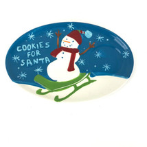 Cookies for Santa Holiday 2006 Starbucks Plate Dish 8 X 5.5 Snowman Sled... - $24.74