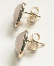 Daniela Swaebe 18K Gold-Plated Faceted Rose Quartz Drop Pear Shape Post Earrings image 2